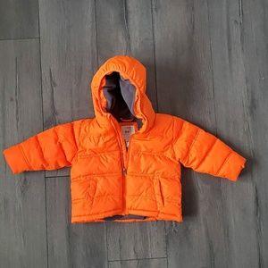 Bright Orange 18M Fleece-Lined Puffer Coat